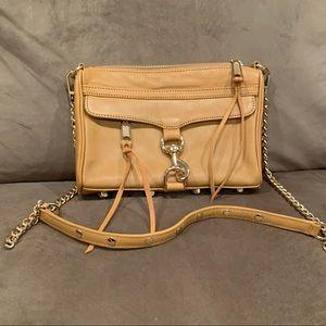 Rebecca Minkoff Mini M.A.C. tan crossbody bag